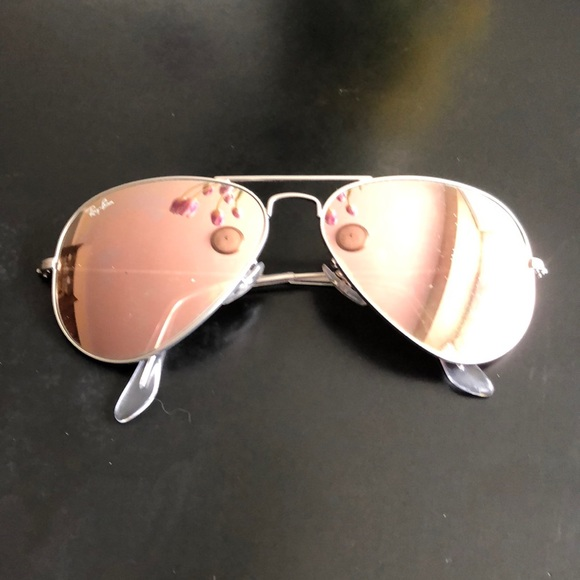 Ray-Ban Other   Raybans Rose Gold Lens W Silver Frames   Poshmark